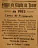 cartaz Festa dos Tabuleiros, Comissão de Turismo