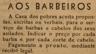 Casa dos pobres, barbeiros