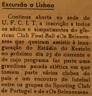 Inauguração do estádio do Restelo, União de Tomar, Os Belenenses, Sporting Club de Portugal, futebol, excursão