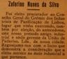 Zeferino Nunes dqa Silva, União de Padarias, panificação