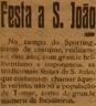 Festa de S. João, campo do Sporting de Tomar