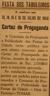 cartaz, Comissão Propaganda e Publicidade