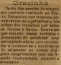 Congresso operário, Teatro Nabantino, civismo