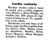 cordão sanitário, regimento Infantaria 11