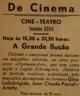 Cinema, Cine-Teatro