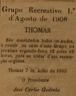 Grupo Recreativo 1º de Agosto de 1908
