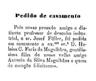Pedido de casamento da filha de A. Silva Magalhães