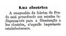 luz elétrica, fábrica de papel do Prado