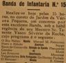 Banda da Infantaria nº 15, jardim da Várzea Pequena, O Rio Nabão - marcha, Manuel Patrocínio, música
