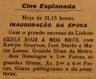 Cine Esplanada, cinema