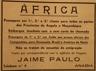 África, Angola , Moçambique, carta de chamada