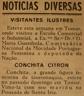 Conchita Citron, tauromaquia, Mocidade Portuguesa Feminina, Escola Comercial Industrial Jacome Ratton