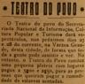 Teatro do Povo, Secretariado Nacional de Informação, SNI, Várzea Grande