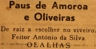 Paus de Amoroa e oliveira