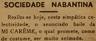 Sociedade Nabantina, baile da Mi Carême
