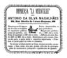 António da Silva Magalhães, Imprensa La Merveille