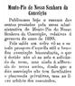 apresentação de contas, Montepio de N. Srª. da Conceição