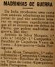 Madrinhas de guerra, Índia portuguesa